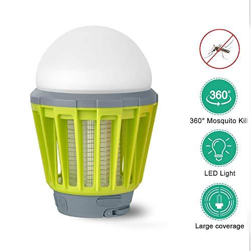 FYFY Elektrischer Insektenvernichter UV Insektenfalle Mückenlampe Fluginsektenvernichter, Insektenlampe Intelligente Mückenvernichter Innen Außeneinsatz