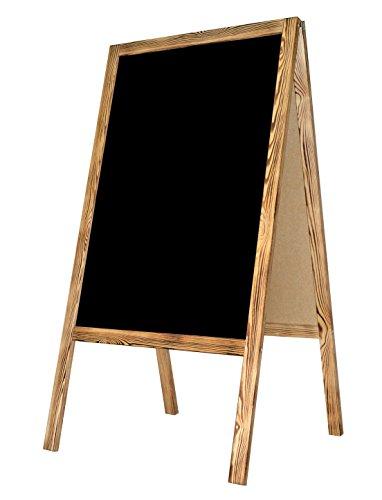Kundenstopper Holz Tafel Werbung Kreidetafel Aufsteller Werbetafel Holztafel Werbeaufsteller Straßenständer Gehsteig Holztafel A-Tafel - BURN