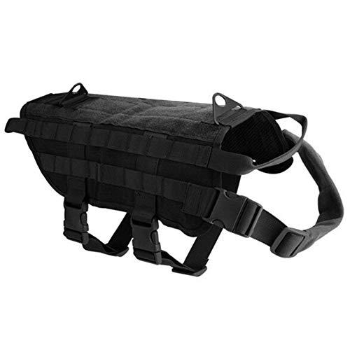 LFEU Hundeweste Geschirr Tactical Military Training Medium Großes Hundegeschirr (Remote Pet Training Kragen)