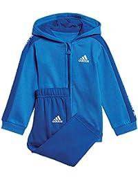779a95b07 Adidas Unisex Baby 3 Stripes Full Zip con Capucha Polar Chándal, otoño/ Invierno, Unisex bebé, Color Blue/Collegiate…