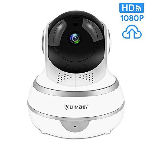LHMZNIY Full HD 1080p WiFi Home Security Kamera Pan/Tilt/Zoom - Arbeiten Sie mit Alexa - Wireless IP Indoor-Sicherheitsüberwachungssystem Nachtsicht, Motion Tracker, Remote Baby/Pet Monitor Tilt Indoor Kamera