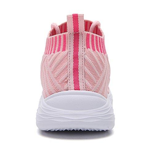 adituob Damen Strick Atmungsaktiver Trainer Sneaker Lässige Sportschuhe Leichte Wanderschuhe - 4
