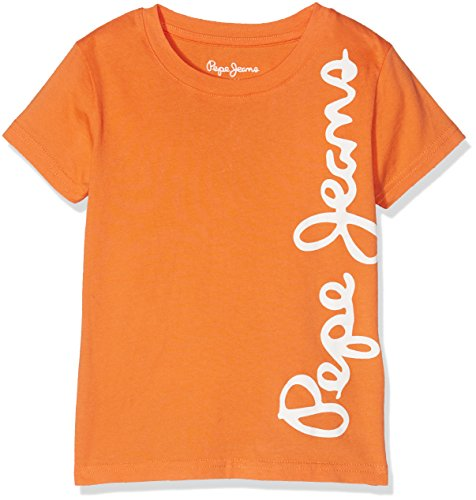 Pepe Jeans Jungen Waldo Short T-Shirt, Orange
