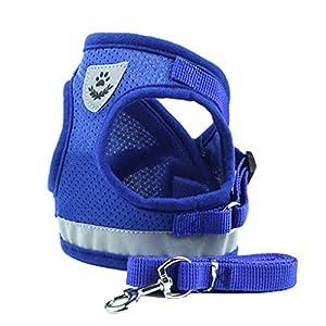Lorsoul Hundegeschirr Tageshemd, Trainings Dog Walking Weste Kleidung Welpengeschirr Jacke, für Kleine Meduim große Hunde - M