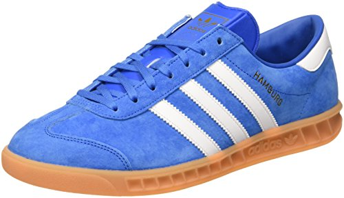 adidas Hamburg, Chaussures de Tennis Homme Bleu (Bluebird/Ftwr White/Gum)