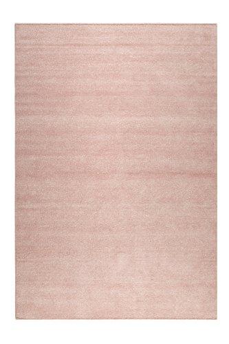 b Kurzflor Teppich/Läufer aus Chenille- Baumwolle für Wohnzimmer, Flur, Schlafzimmer I Maya Kelim I ESP-6019-06 I Rosa I (130 x 190 cm) ()
