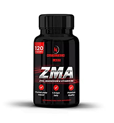 Best Triple Strength ZMA-2,500mg   Zinc Maganesium B6 Supplement   ZMA Testosterone Booster - Promotes Muscle Strength, Recovery, Energy & Better Sleep   2 to 3 Months Supply- 120 Tablets from Nutritech Labs Ltd