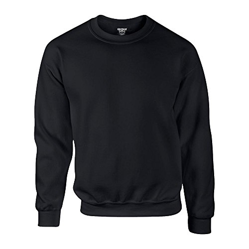 Crewneck Pullover (Gildan - DryBlend Crewneck Sweatshirt 'Set in Sweat' XL,Black)
