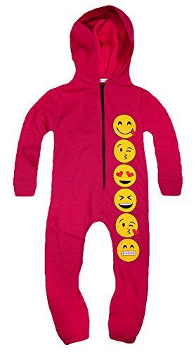 Jolly-Rascals-Nias-Longitud-Completa-Con-Cremallera-Frontal-Mono-Emoji