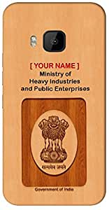 "Aakrti Mobile Back cover with your Dept: Ministry of Heavy Industries and Public Enterprises.Express your Government Job With "" Your Name "" Printed on your Smart Phone : Asus ZenFone-6"