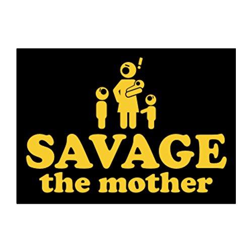 Teeburon Savage the mother Aufkleber Packung x4 -