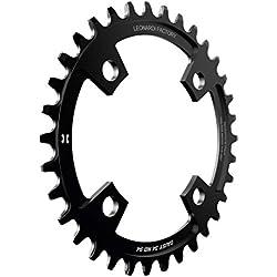 Leonardi Factory Daisy BCD 94 - Plato de bicicleta, color negro, tamaño 34