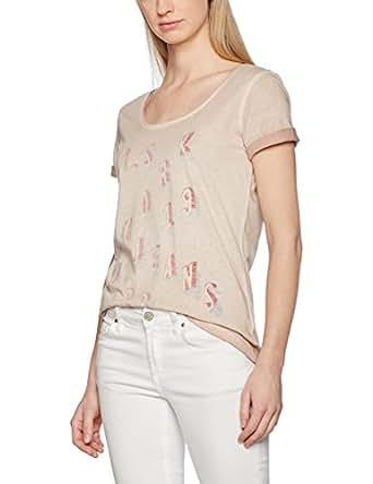 H.I.S Jeans Damen T-Shirts 101269, Rosa (Misty 5511), X-Small (Herstellergröße:XS)