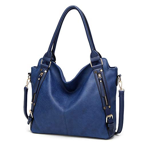 PU-Lederhandtaschen Große Kapazität Tote Mode Hobo Umhängetaschen Top-Griff ()