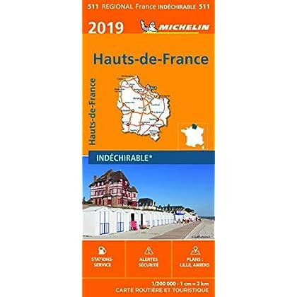 Carte Haut de France Michelin 2019