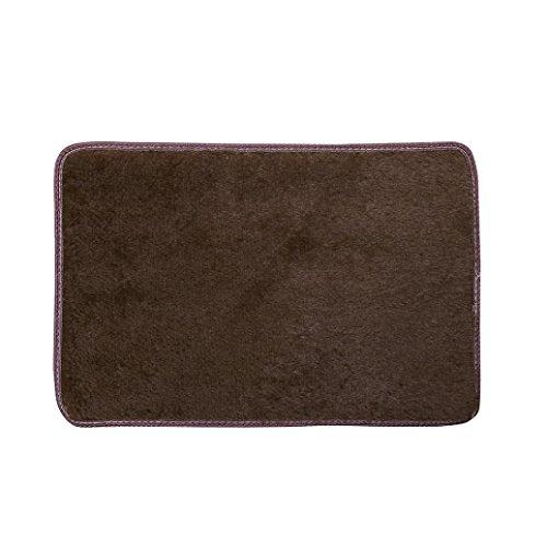 Preisvergleich Produktbild flauschig weich Teppiche Teppiche, vneirw Fashion Wohnzimmer Schlafzimmer Boden Shaggy Teppich Bereich rutschsicheren die Sauberlaufmatten, coffee, 50 x 80 cm