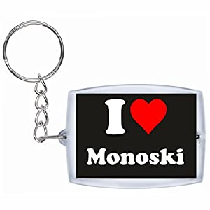 Druckerlebnis24 Schlüsselanhänger I Love Monoski in Schwarz, eine tolle...