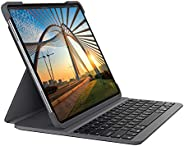 Logitech SLIM FOLIO PRO mit Hintergrundbeleuchtung, Bluetooth-Tastatur-Case, für iPad Pro 12,9 Zoll (3. und 4.