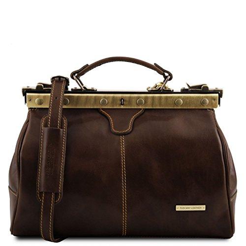 Tuscany Leather - Michelangelo - Borsa medico in pelle Miele - TL10038/3 Testa di Moro