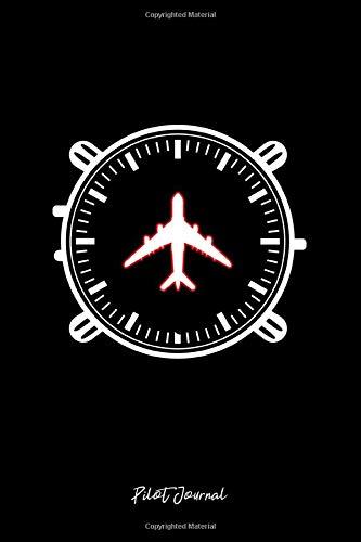 Pilot Journal: Lined Journal - Airplane Watch Clock Aircraft Aviation Pilot Gift - Black Ruled Diary, Prayer, Gratitude, Writing, Travel, Notebook For Men Women