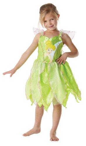 (Karneval Kinder Kostüm Fee Elfe Tinkerbell Kleid Fasching Größe S)