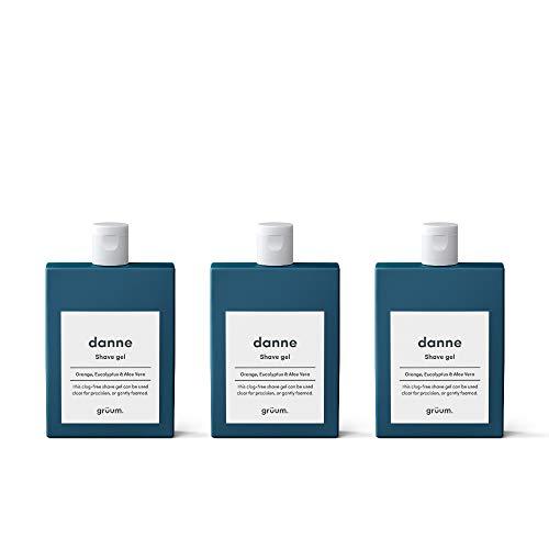 1aa012da7e6f Grüum Danne Clear Shave Gel Trio Pack, Orange & Eucalyptus Scent, Perfect  For Face Legs & Body, 94% Natural 3 x 120ml Trio