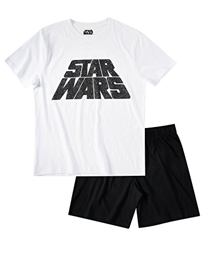 Star Wars-The Clone Wars Darth Vader Jedi Yoda Herren Shorty-Pyjama - weiß - M