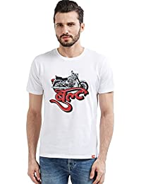 WYO Mens Printed Graphic Cotton T-Shirt(Bult Biker T-Shirt)