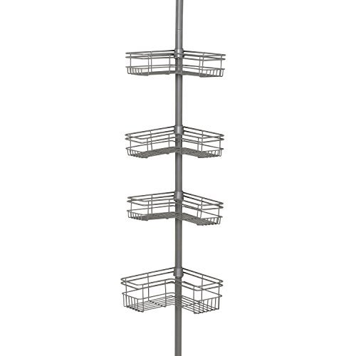 Tension Pole Caddy (Zenna Home 2130NN, Tension Corner Pole Caddy, Satin Nickel by ZPC Zenith Products Corporation)