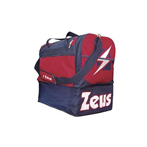 Zeus Herren Sporttasche Schultergurt Umhängetasche BORSA DELTA (BLAU-ROT) BLAU-GRENADE