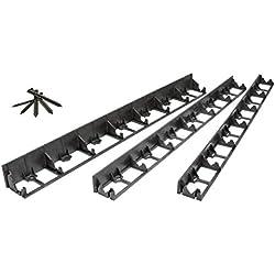 geoBORDER Bordure de Gazon en Plastique - Bordures de Pelouse - Flexible Bordure de Jardin - Idées de Jardin - Jardin Conception + 3 Piquets par mètre (8m, 5.5 cm)