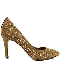 LOLA CRUZ AH541 Zapatos de salón mujer 36 EU beige gamuza strass