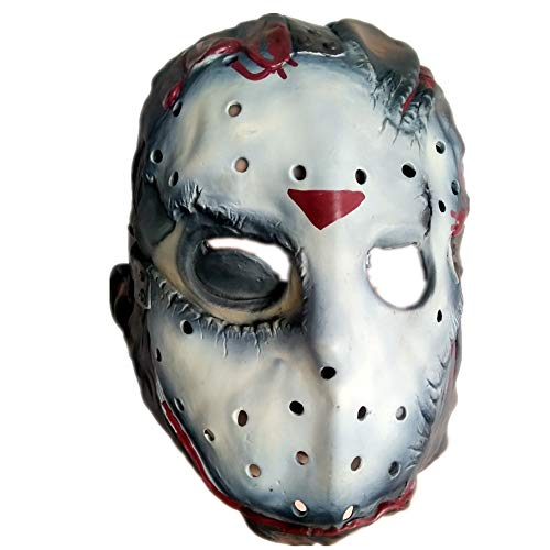 VAWAA Jason Voorhees Freddy Krueger Latex Overhead Maske Erwachsene Kostüm Freitag Der 13. Killer Sparty Maske Scary Horror - Overhead Latex Maske Kostüm