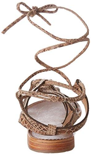 Les Tropéziennes par M. Belarbi Hercule, Scarpe Col Tacco con Cinturino a T Donna Beige (Serpent Beige)