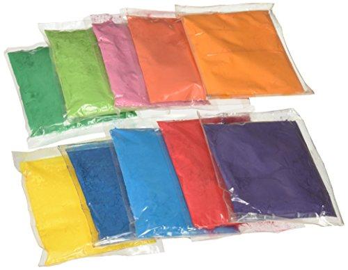 Bharat Online Festival Rangoli Holi Colors 50 Gram Packets Pack Of 10
