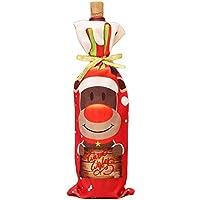 Fundas para botellas de vino de Navidad, tela de poliéster, diseño de Papá Noel