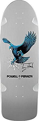 Powell Peralta Bones Brigade Hawk Tablett Skateboard-Silber 9,56