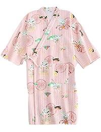 YTFOPLK Conejo Lindo Kimono Batas De Baño Batas De Noche Mujeres Tela De Buceo Japonesa Pijamas