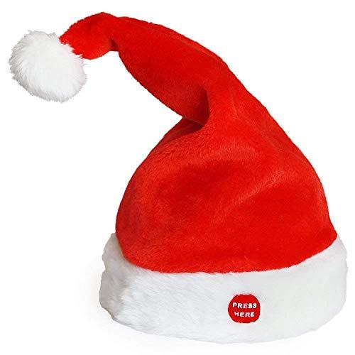 GYD Weihnachtsmütze + Musik Tanzend Singend Rockende Weihnachten Nikolaus Mütze