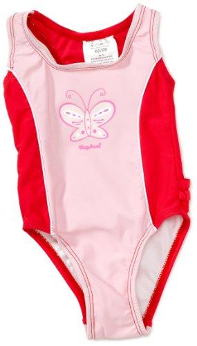 Playshoes Unisex - Baby Babybekleidung/ Badebekleidung UV-Schutz nach Standard 801 und Oeko-Tex Standard 100 Badeanzug Schmetterling mit Windeleinsatz 460063, Gr. 86/92, Rosa (900 original) Unisex Badeanzug