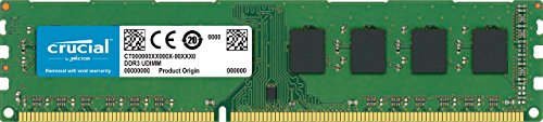 Crucial CT51264BD160B Memoria da 4 GB, DDR3L, 1600 MT/s, PC3L-12800, DIMM, 240-Pin