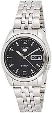 Seiko Men's 5 Automatic SNK393K Black Stainless-Steel Automatic Dress W