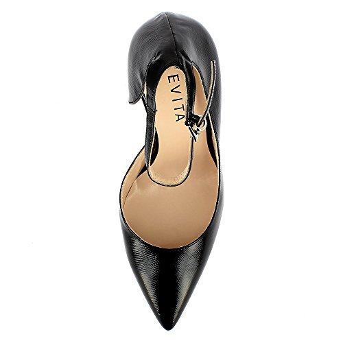 femme verni cuir Noir escarpins ALINA imprimé 5naxqAvFnw