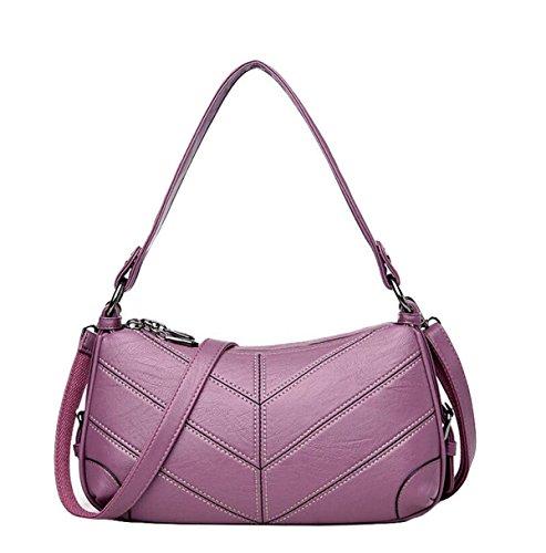 Borse A Tracolla Diagonali Borse Di Moda Casual Semplici Selvatici Eleganti Purple