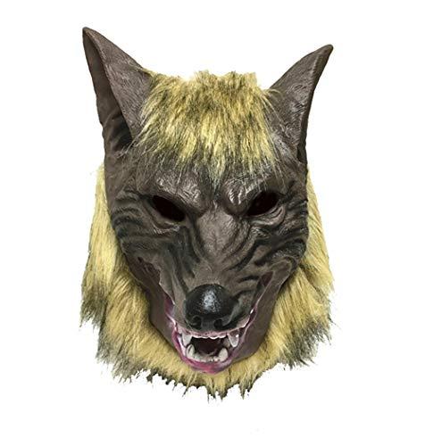 Cdet 1x Wolf Maske Silikon Party Masken Masquerade Halloween Maske Cosplay Karneval Kostüm Horror Spuk Kopf Masken (Halloween Maske Website)
