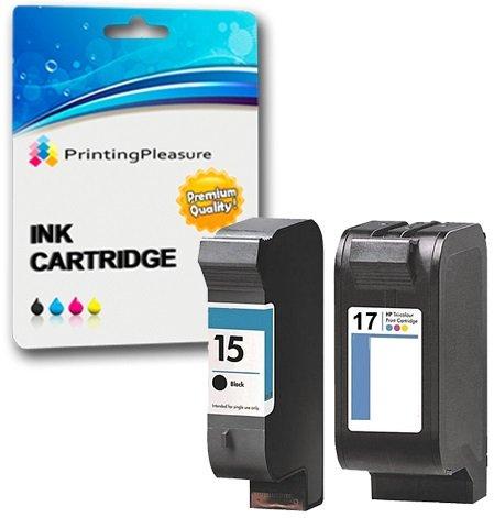 2 Compatibili HP 15 / HP 17 Cartucce d'inchiostro Sostituzione per HP Deskjet 816c 825c 825cvr 825cxi 827 840c 841c 842c 843c 845c 845cse 845cvr 845cxi 848c - Nero/Colore, Alta Capacità