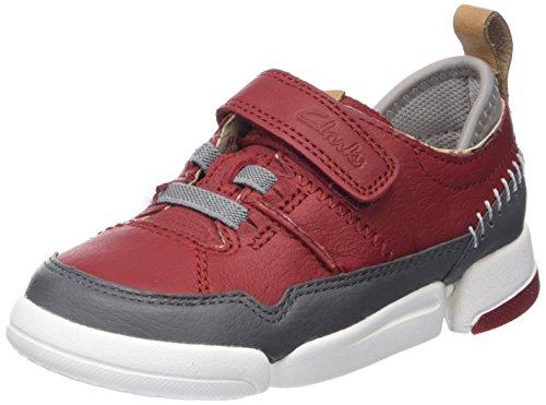 Clarks - Tri Scotty Inf, Scarpe da ginnastica Bambino Rosso (Red Combi)