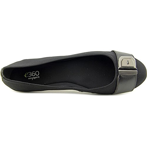 Easy Spirit e360 Gianetta Toile Chaussure Plate Blk-Blk