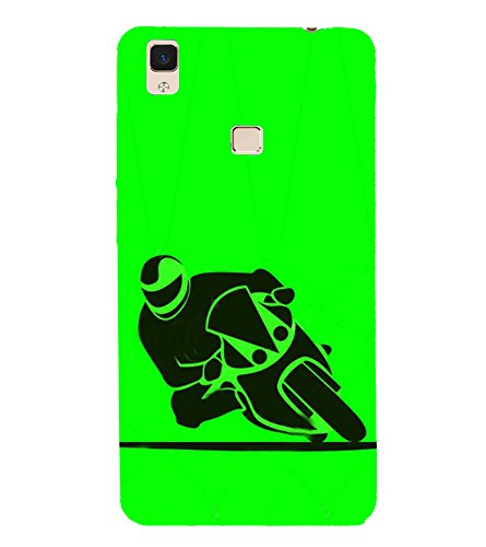 Fiobs Designer Back Case Cover for Vivo V3 Max (Bike Motorcycle Cool Vehicle Swag Boy )