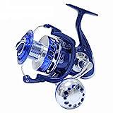 Saltiga Spinning Reels 6000 7000 8000 9000 10000 Heavy Duty Pesca in Mare Fishing Jigging Mulinello da Pesca Drag 30KG,Blue,MX5000